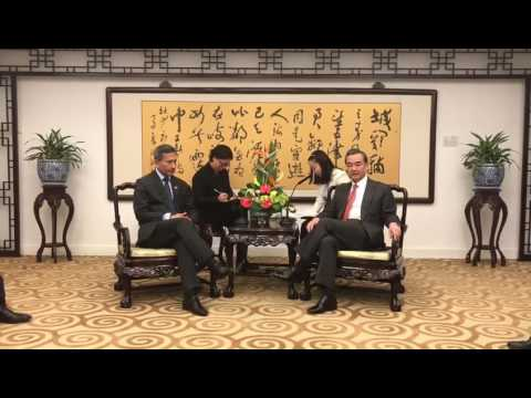 Foreign Minister Vivian Balakrishnan and Chinese Foreign Minister Wang Yi's meeting in Beijing