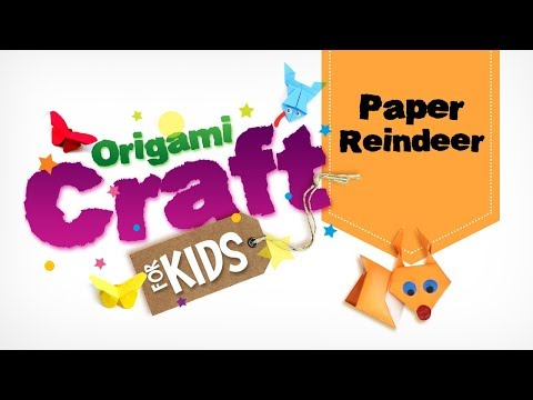 How to make Origami Paper Reindeer in Tamil | Origami Craft for Kids || Easy Paper Craft | DIY Craft