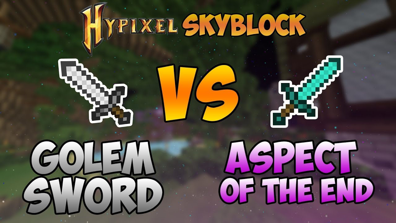 Repeat Golem Sword VS Aspect of the End | Hypixel Skyblock
