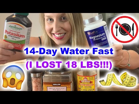 Day 14 Water Fast 😱 Down 18lbs! (No Food For 14 Days!) + Magnesium & Potassium Supplements