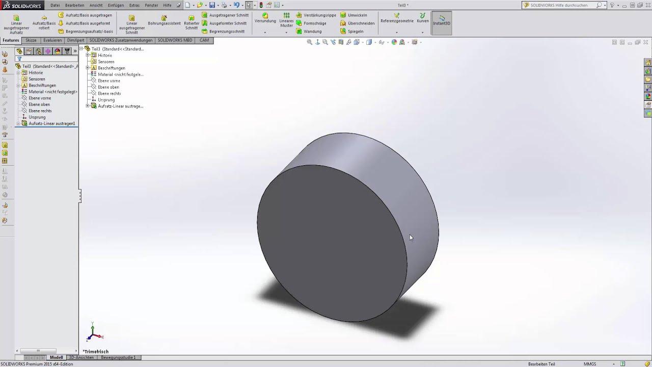 Tut 1 1 Skizzen Erstellen Und Austragen Grundlagen Solidworks