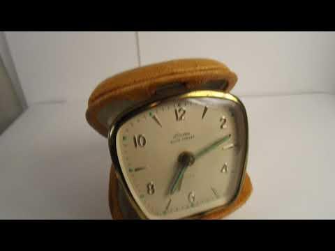 Vintage Linden Black Forest Travel Alarm Clock