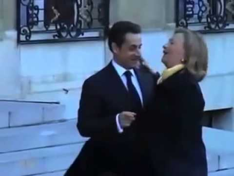 Hillary Clinton Getting Naughty with Nicolas Sarkozy