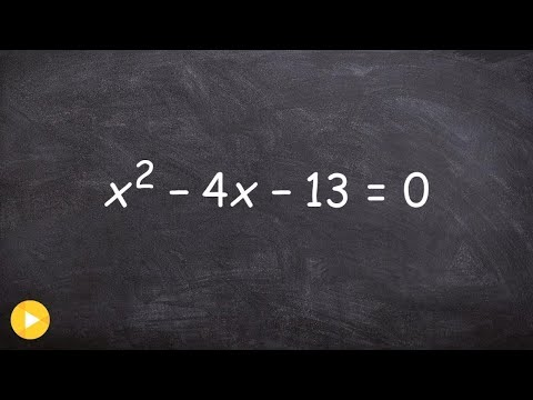 Solving an quadratic by completing the square