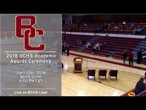 2018 BCHS Academic Awards Ceremony (4/30/18)