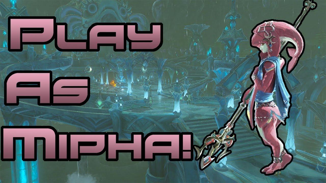 PLAY AS MIPHA IN BREATH OF THE WILD! // Zelda: BOTW Mipha Mod (Cemu 1 11 2  Zelda mods) by Doctor Oddy