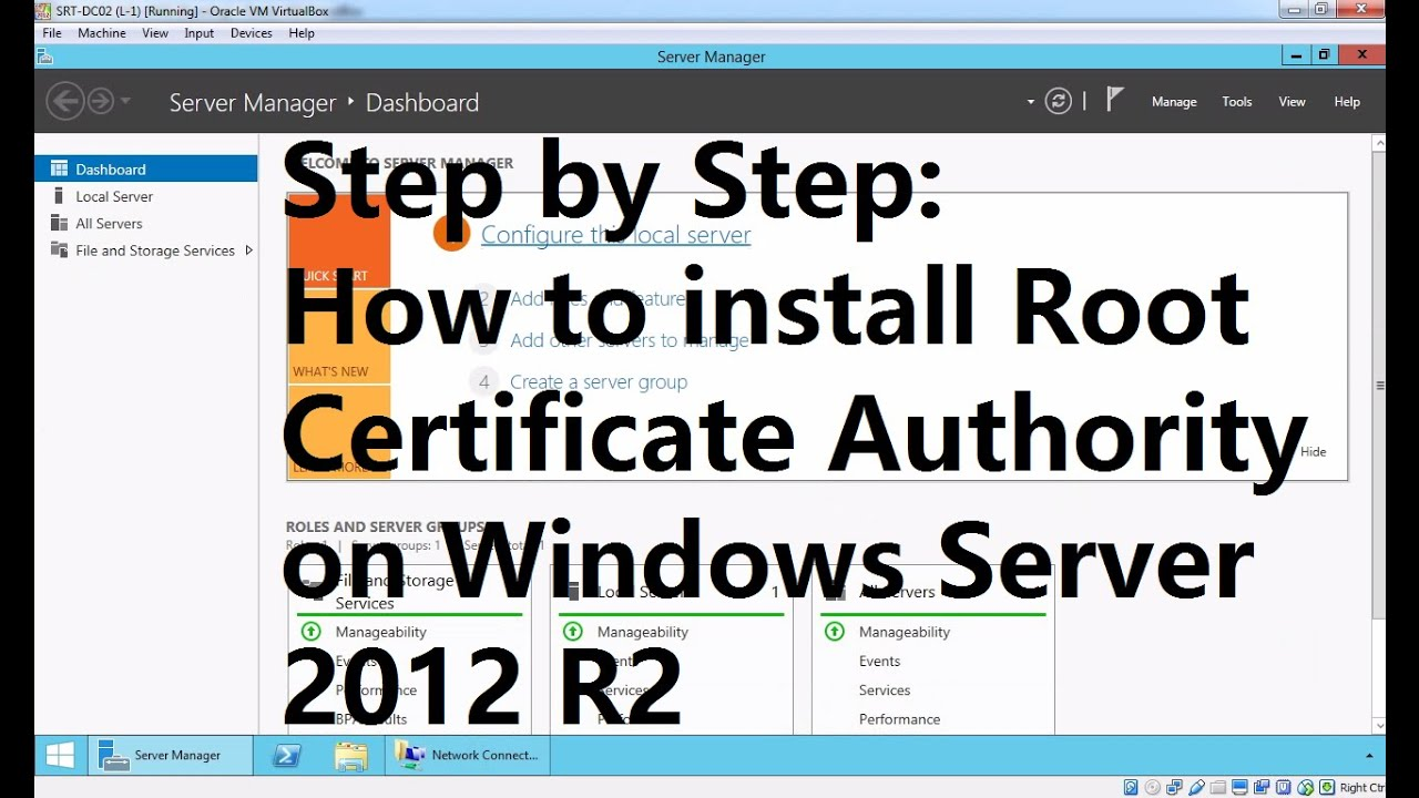Installing Enterprise Root Certificate Authority In Windows Server