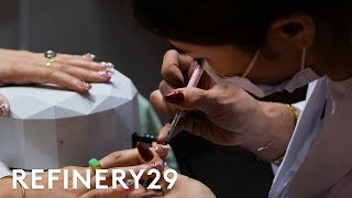I Tried A 3-Hour Japanese Manicure | Beauty With Mi | Refinery29