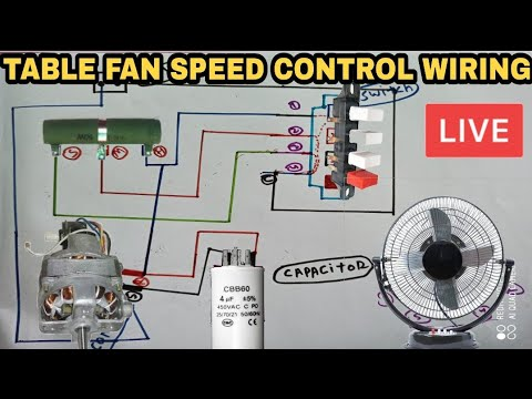 table fan 3 speed control resistance wiring diagram in hindi
