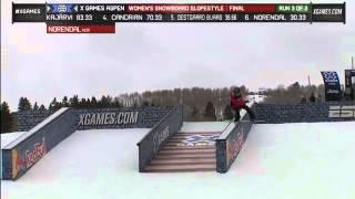 X Games Aspen 2013 Silje Norendal Women s Snowboard Slopestyle final 1