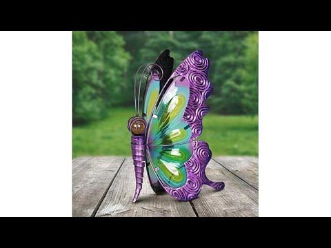 FieldSmith Solar Butterfly Statue