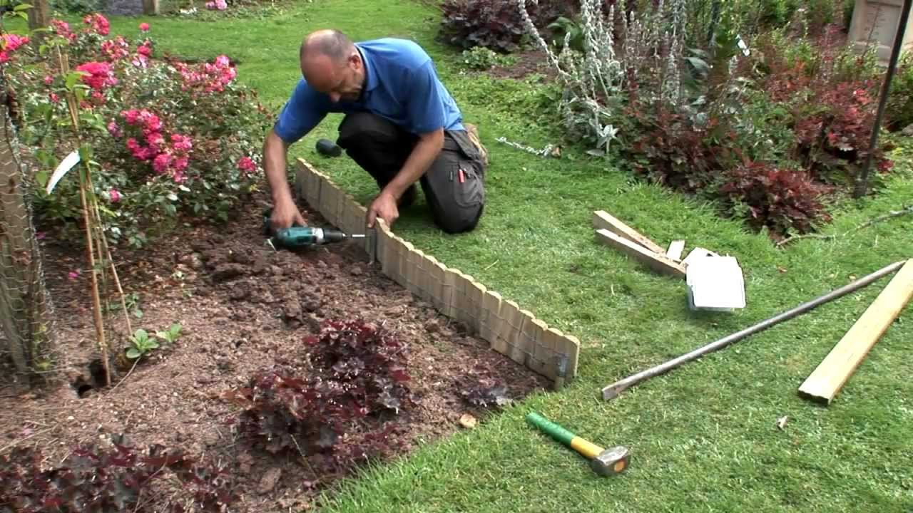 Garden Border Edging Ideas garden edging idea How To Install Log Roll Edging Youtube