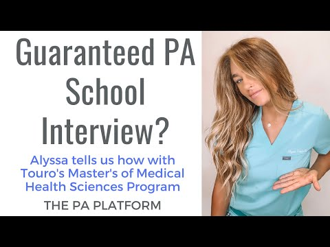 How Touro's Master's Program Can Get You Into PA School!