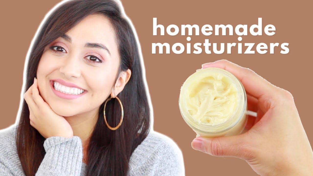 DIY NATURAL MOISTURIZERS | Acne Prone, Oily & Dry Skin