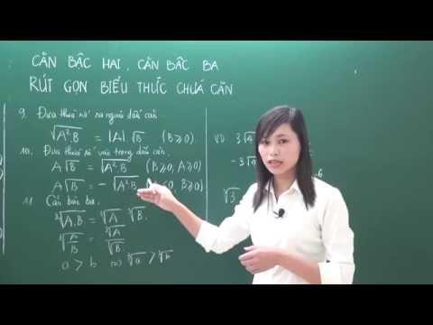 Toán cơ bản 9 - Chuyên đề căn thức,rút gọn biểu thức chứa căn - Cô Nguyễn Thị Huệ [Hocmai.vn]