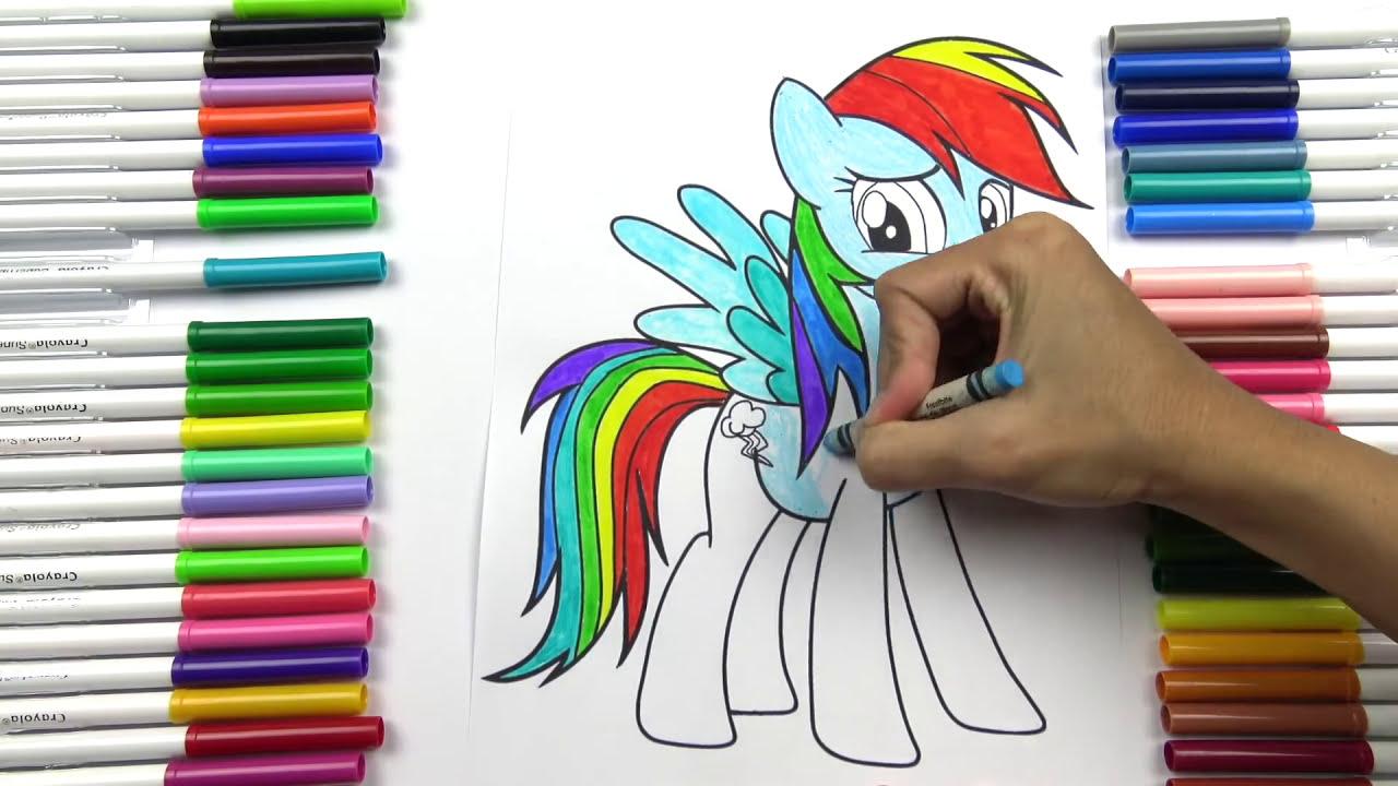 ระบายสี ม้าโพนี่ เรนโบว์แดช กิจกรรมสนุก สำหรับเด็ก How To