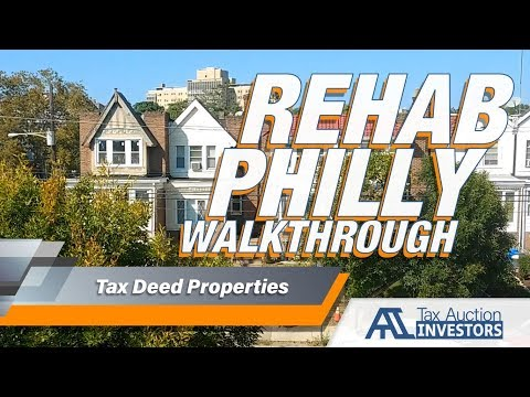 Home Inspection Walkthrough During Rehab of Philly Tax Sale Property