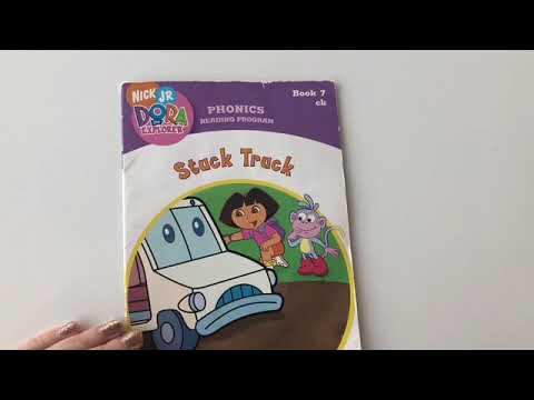 dora the explorer and the stuck truck phonics book youtube