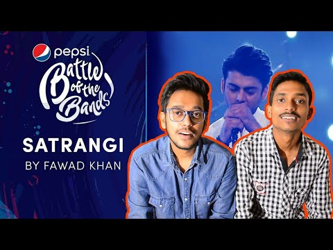 Indian Reacts To : SATRANGI  Fawad Khan  Pepsi Battle of the Bands
