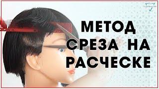Метод среза на расческе / Техника стрижки / Бесплатный Видео- урок