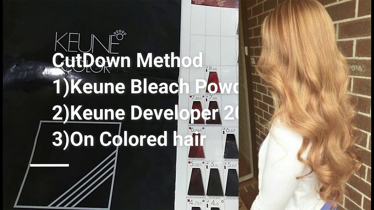 How To Cutdown Hair Color With Keune Product Full Detail Tutorial