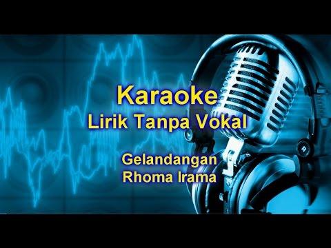 gelandangan | Karaoke Dangdut Version Sampling Keyboard + Lirik tanpa vokal