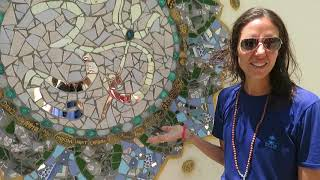 Georgina Sattva Academy Student teaches us how to make Beautiful Mosaic Art! Part 4/4