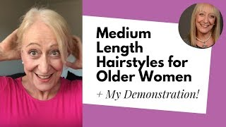 Fabulous Hairstyles for Older Women with Medium Length Hair Demonstration