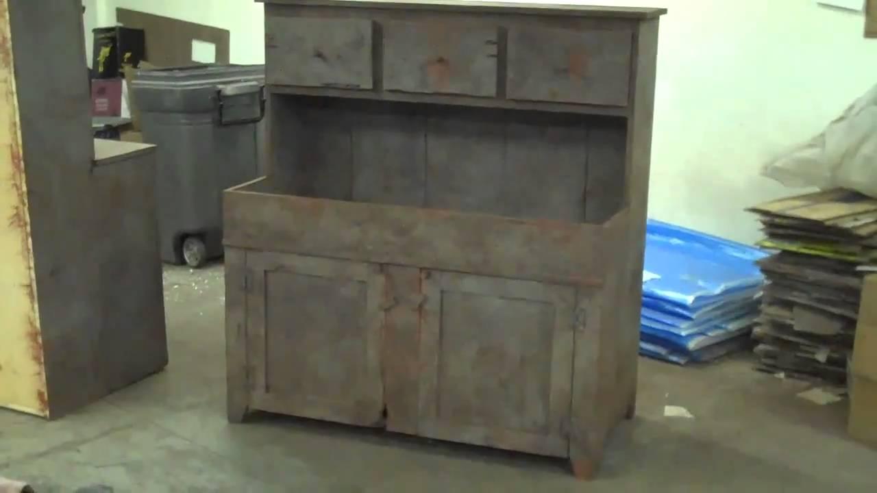 Primitive Furniture Arnett S Drysink Cupboard Primitiques C Youtube