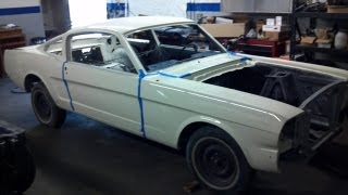 1965 Ford Mustang Fastback restoration project Part 2 Car is painted