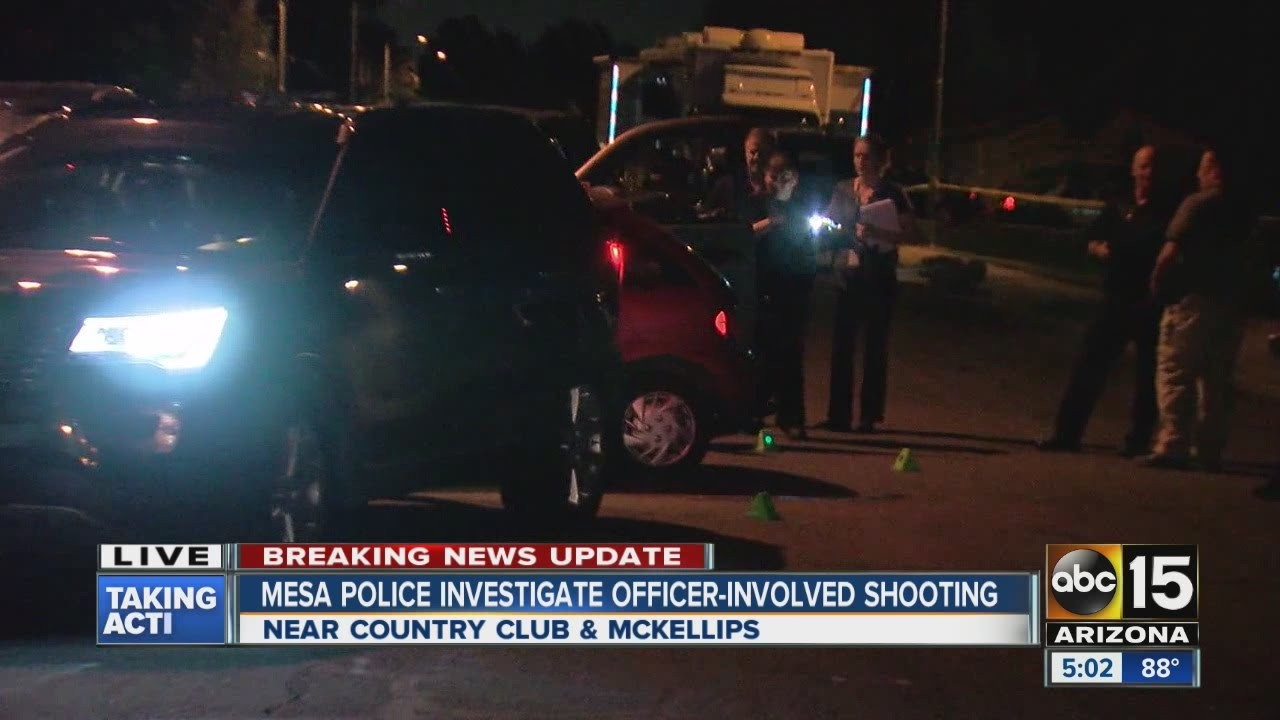 Mesa police investigating officer-involved shooting with homicide suspect