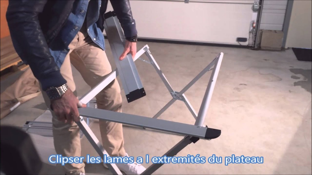 table de camping pliante en aluminium antarel