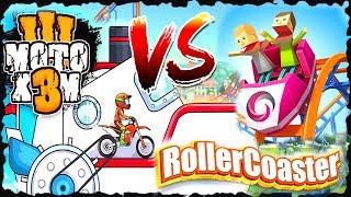 Moto X3M 3 Vs Rollercoaster Creator Express Game Compare