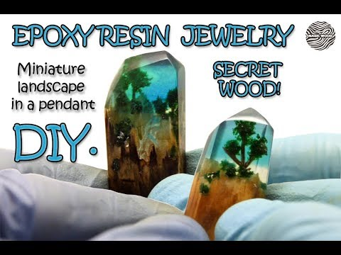 DIY. handmade  Miniature landscape - How to make resin jewelry -   Secret Wood