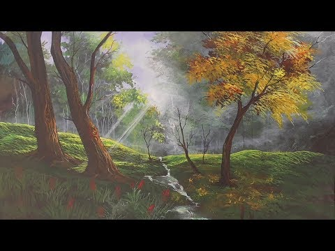Acrylic Landscape Painting Lesson-Peeping sun rays
