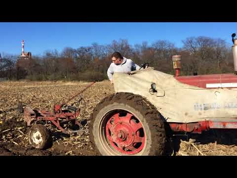 Repeat IH Farmall 806 plowing with a 5 bottom F145H Plow by