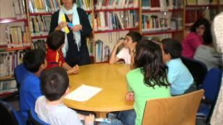 5º de primaria del colegio Valle Inclán en la biblioteca Emilio Prados
