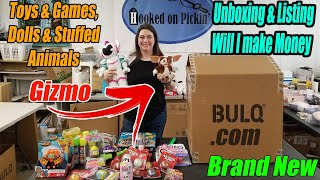 Bulq.com Unboxing & Profit Listing Paid $134.00 Will I make Money? Look it's Gizmo! Yay! 80's Movie