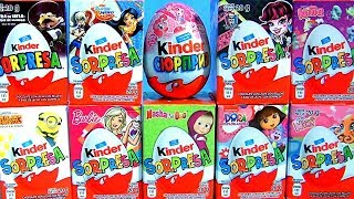 Kinder Surprise Eggs Barbie My Little Pony Minions Dora The Explorer