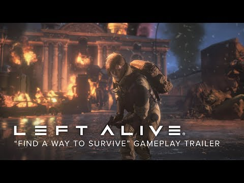 """LEFT ALIVE - """"Find a Way to Survive"""" Gameplay Trailer (Closed Captions)"""