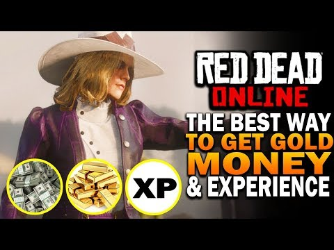 The Best Way To Make Money, Gold And Level Fast In RDR2 Online - Red Dead Online Update