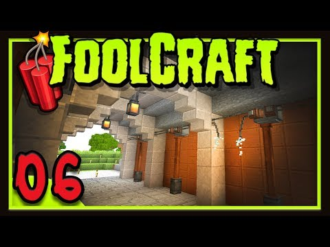 Foolcraft 3: Finally Building My Base!   (Minecraft Modded Survival Ep 6)