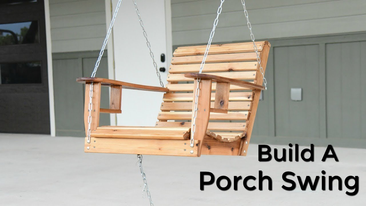 how to build a porch swing single seater porch swing youtube. Black Bedroom Furniture Sets. Home Design Ideas