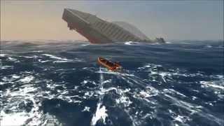 Ship Simulator Extremes - MS Oceana Iceberg Collision and Sinking