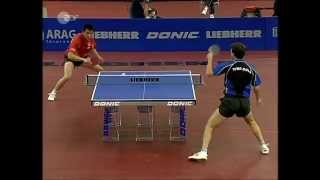 Repeat youtube video Table Tennis - ATTACK (Timo BOLL) vs DEFENSE (Hou YINGCHAO) XXXVII !