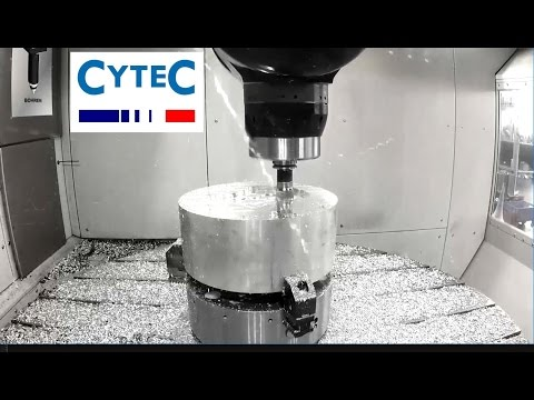Cytec Systems usinage 5 axes CyMill  machines outils en ACTION !!!