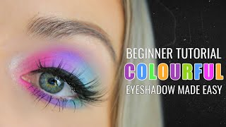 Colourful Eyeshadow Tutorial for Beginners | Jawbreaker Palette