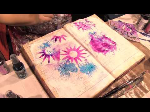 Scrap Time - CHA Winter 2013 - Dina Wakley at the Crafter's Workshop