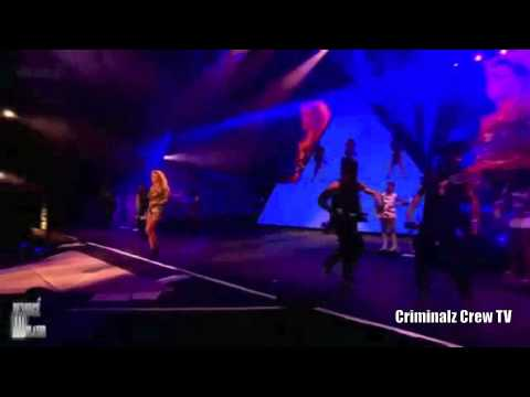 CCTV : Les Twins ( Criminalz ) performing with Beyonce