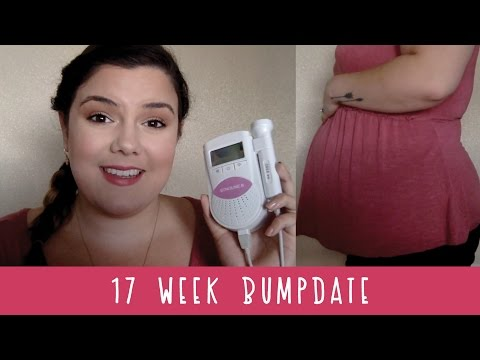 17 Weeks Bumpdate Plus Size Pregnancy | Sonoline B Doppler & 2nd Trimester